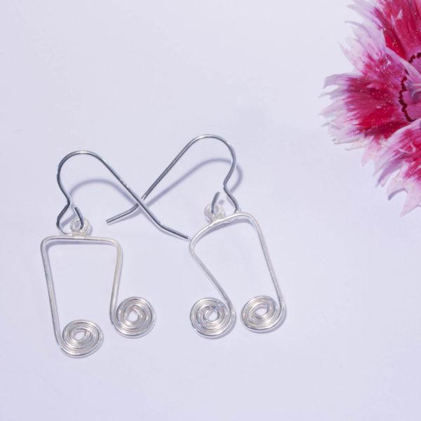 Boucles d'Oreilles Mélodie - Double Croche