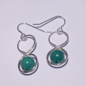 Boucles d'Oreilles Infini Turquoise