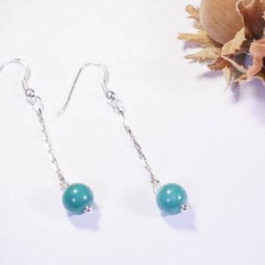 Boucles d'oreilles Long Color Turquoise